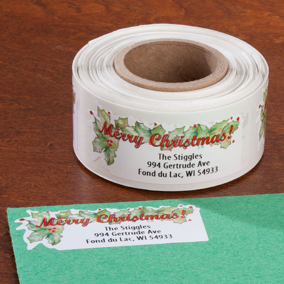 Merry Christmas Labels - Set Of 150 - View 1