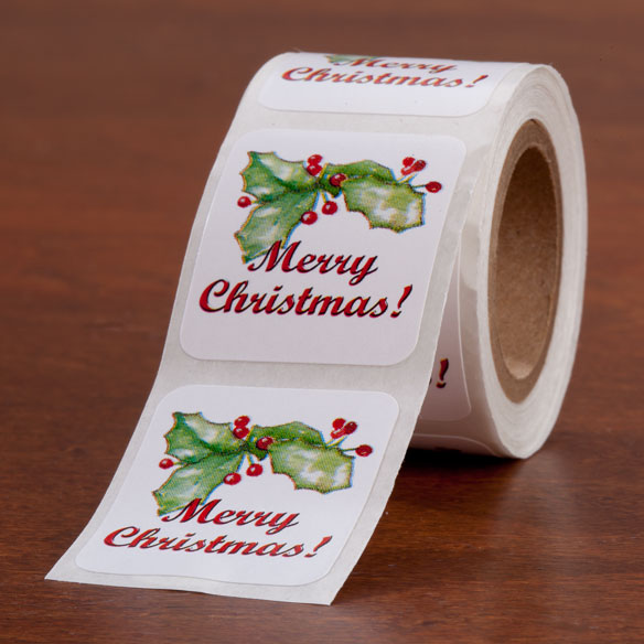 Merry Christmas Seals - Set of 200