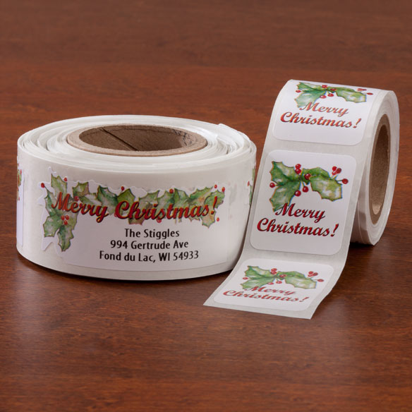 Merry Christmas Labels And Seals Set - View 1