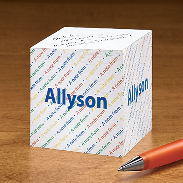 Personalized Sticky Note Cube - View 1