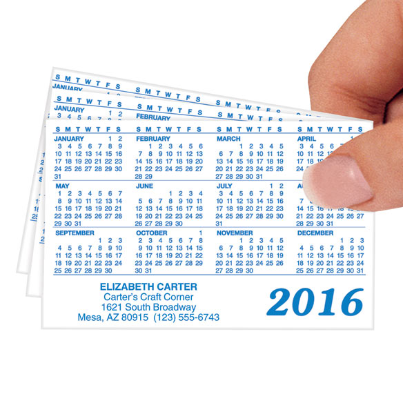 Matte Personalized Plastic Calendars - Set of 50