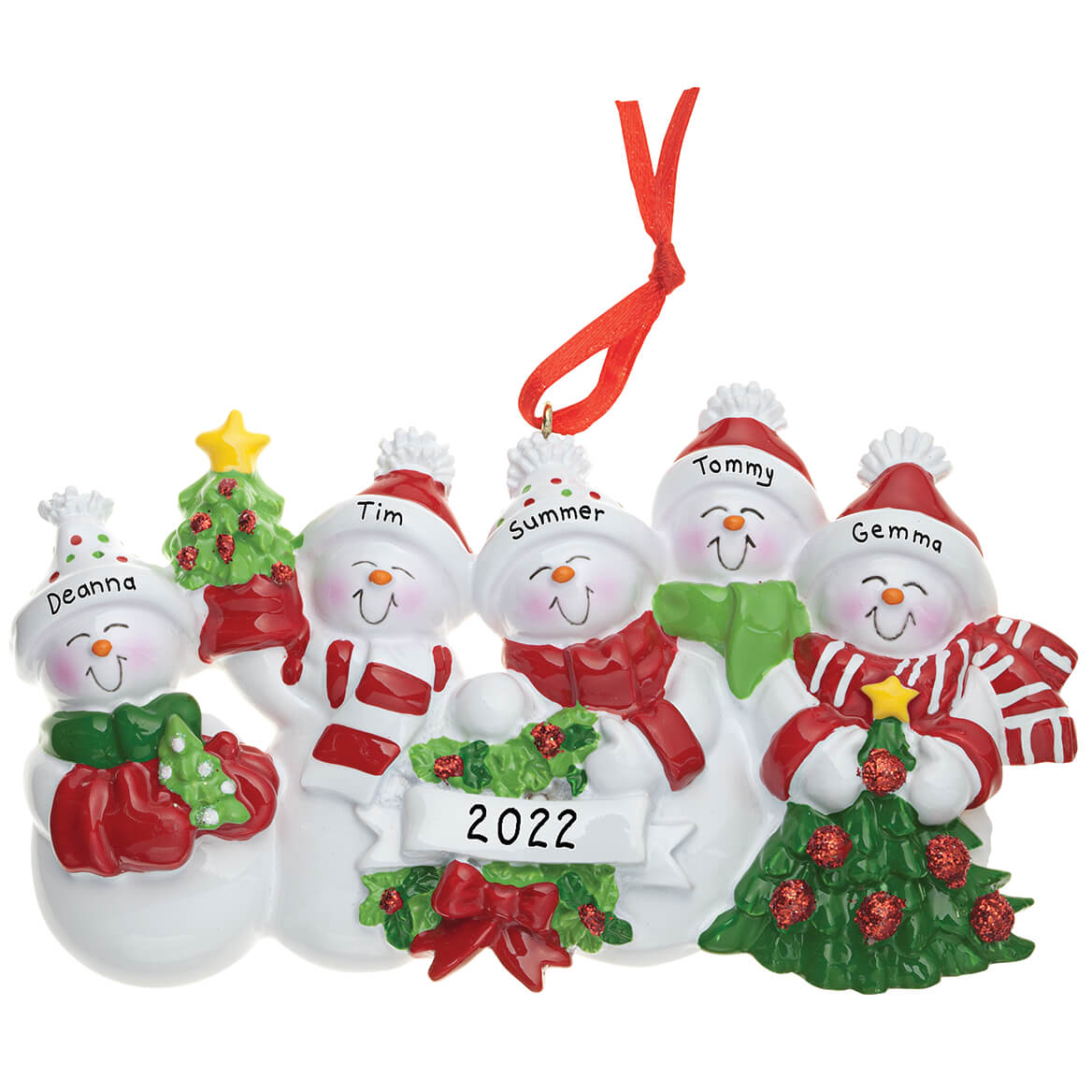 Personalized Snow Family Ornament - Ornaments - Miles Kimball