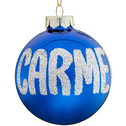 Personalized Name Or Date Glitter Ornament - Christmas - Miles Kimball