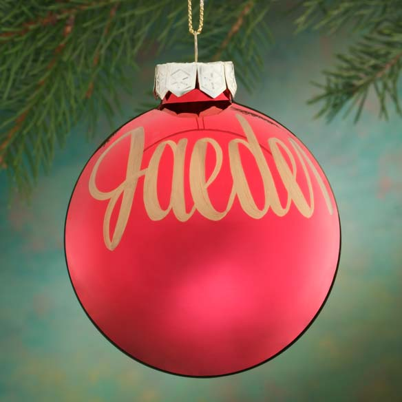 Personalized Name Or Date Painted Ornament - View 1