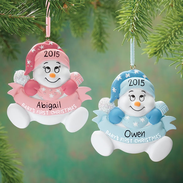 Personalized Snowbaby's First Christmas Ornament