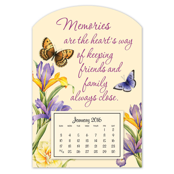 Mini Magnetic Butterfly Calendar - View 1