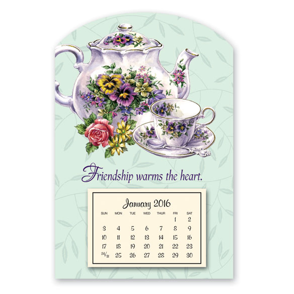 Mini Magnetic Teapot Calendar - View 1
