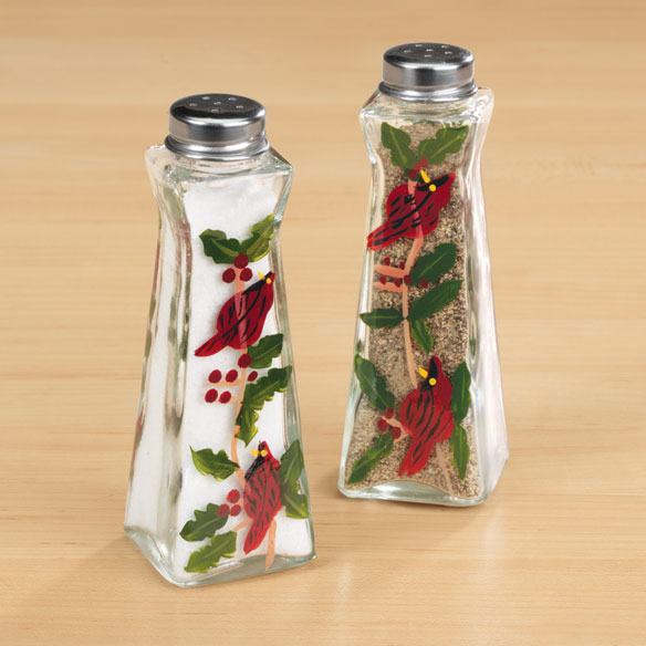 Cardinal Salt And Pepper Shakers - View 1