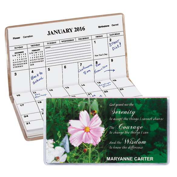 Serenity Prayer 2 Year Pocket Calendar - View 1