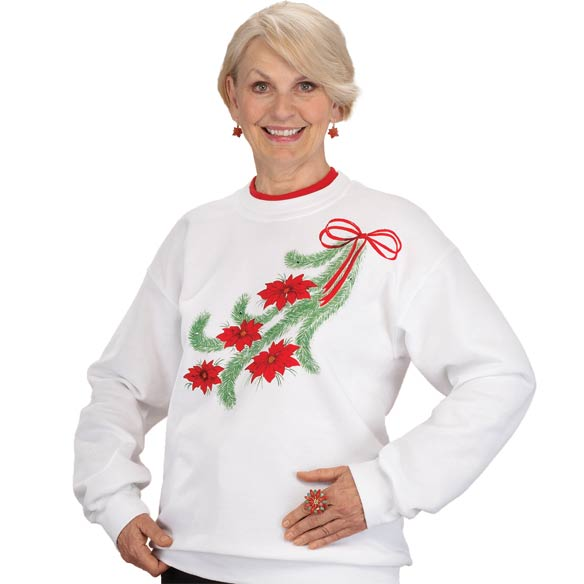 Poinsettia Sweatshirt - View 1
