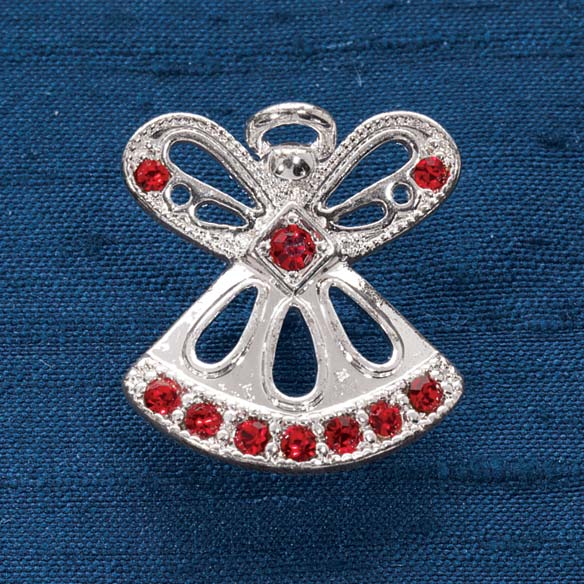 Birthstone Angel Pin