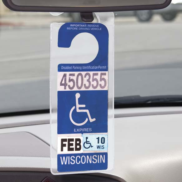 Handicap Placard Hanger Protector Hanger Plastic Car ...