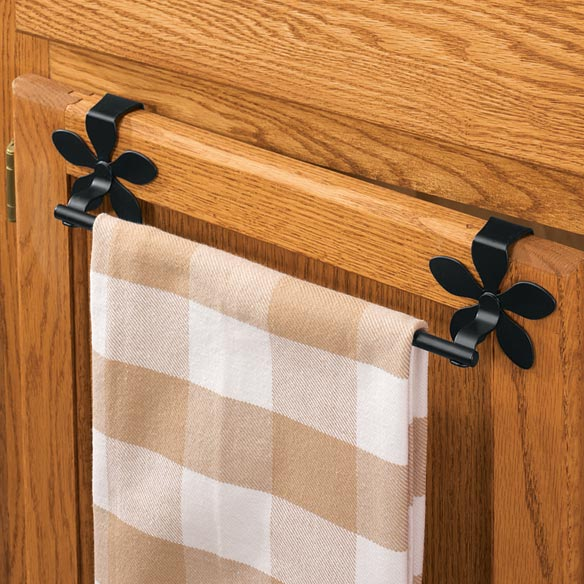 Flower Over The Cabinet Towel Bar