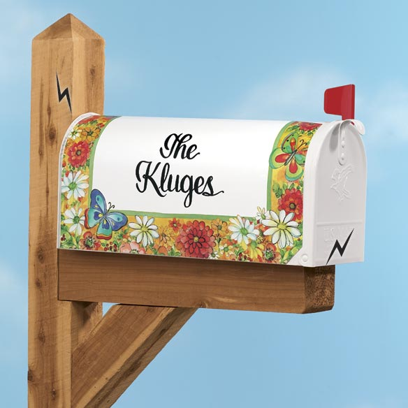 Personalized Bright Flower Mailbox Cover