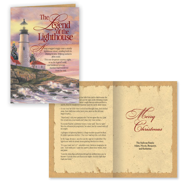 Lighthouse Legend Christmas Card Set of 20