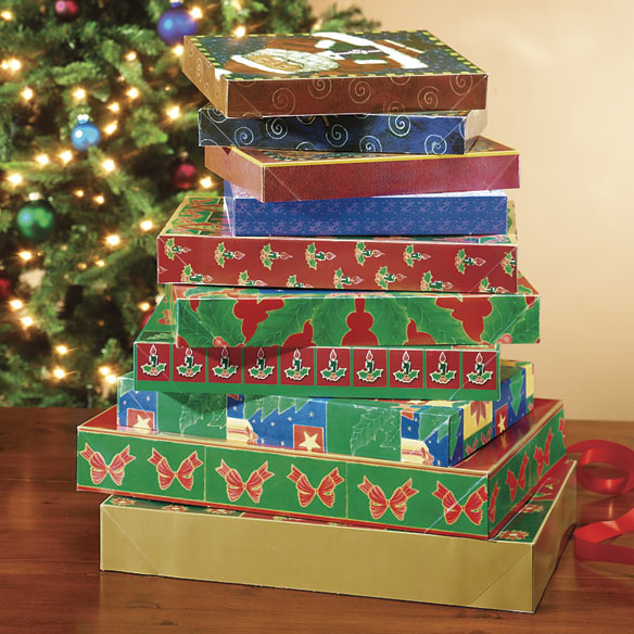 Christmas Gift Boxes - Set of 9