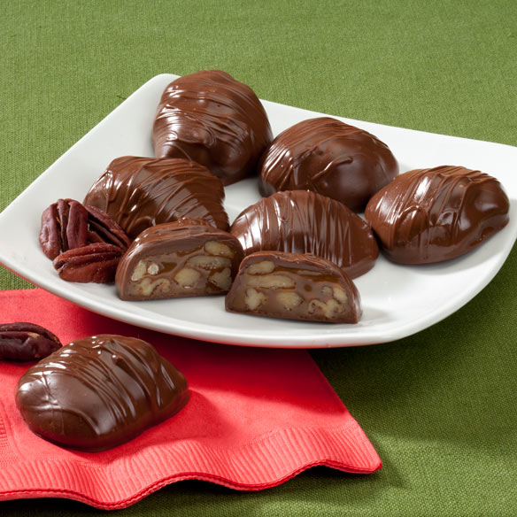 Chocolate Covered Texas Chewie® Pecan Praline 10 oz