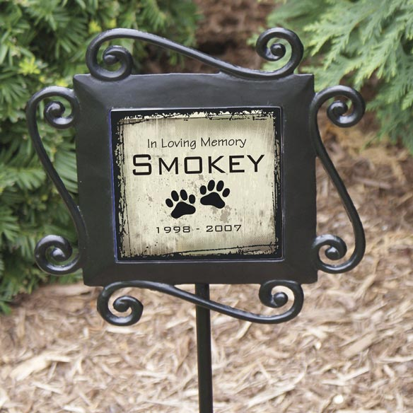 Personalized Pet Memorial Garden Stake - View 1