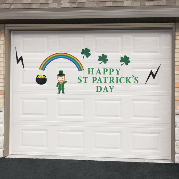 St Patrick's Day Garage Door Magnet Set
