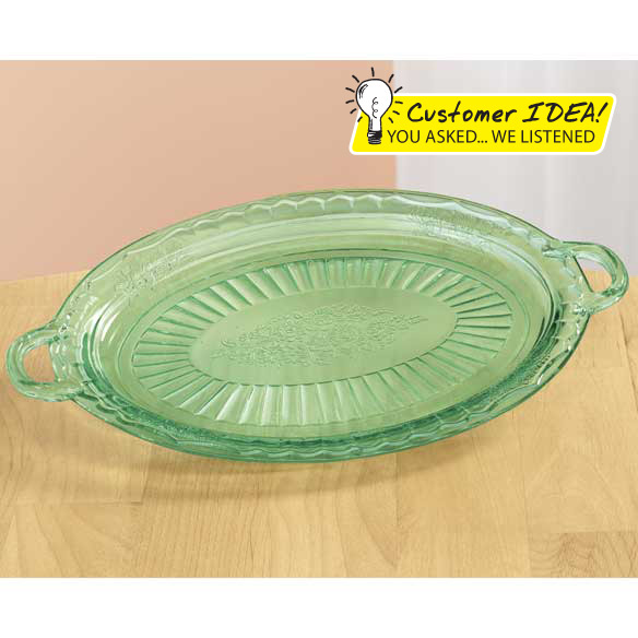 Classic Green Serving Platter - View 1
