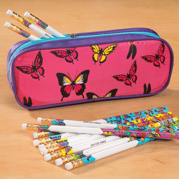 Personalized Butterfly Pencil Case Set - View 1