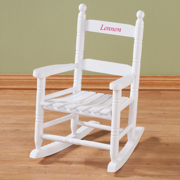 Personalized Child's White Rocker