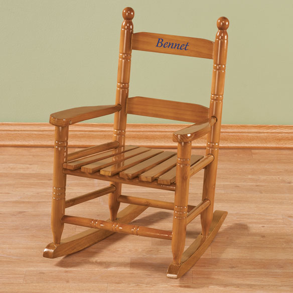 Personalized Child's Natural Rocker - View 1