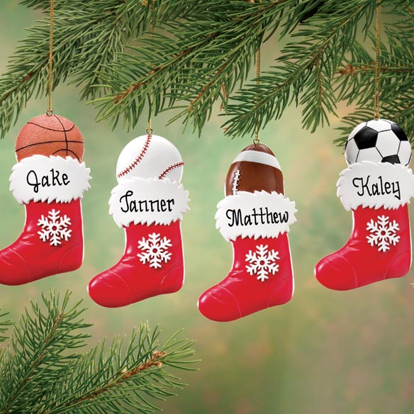Personalized Sports Stocking Ornament - View 1