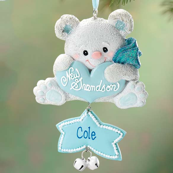 Personalized New Grandson Ornament - View 1