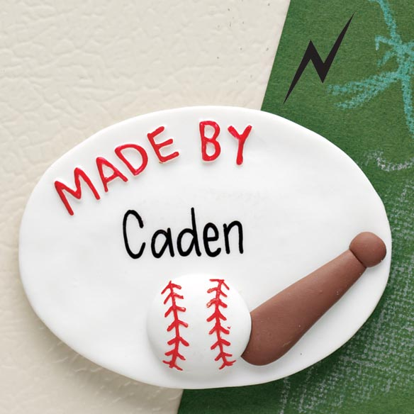 Personalized Baseball Magnet