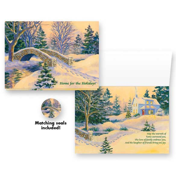 Snowy Footbridge Non-Personalized Card Set of 20