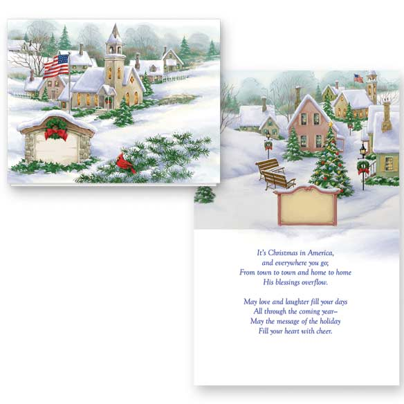 God Bless America Non-Personalized Card Set of 20 - View 1