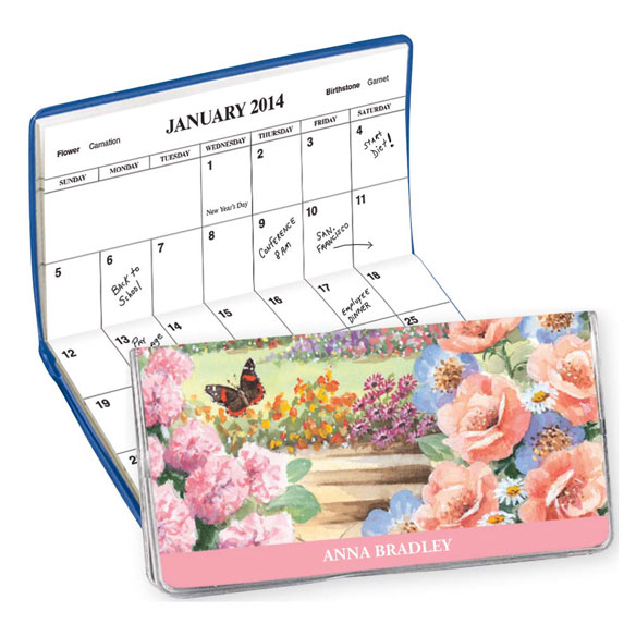 Butterfly Garden 2 Year Pocket Planner