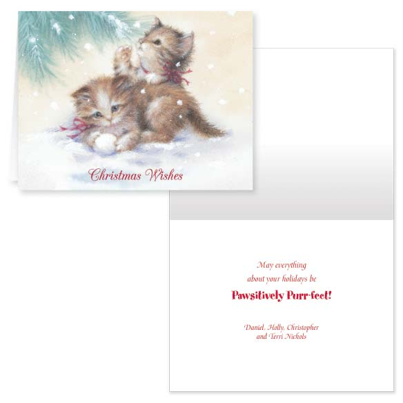 Kitten Christmas Card Set of 20