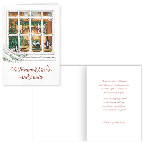 Treasured Friends Christmas Card Set of 20 - View 1
