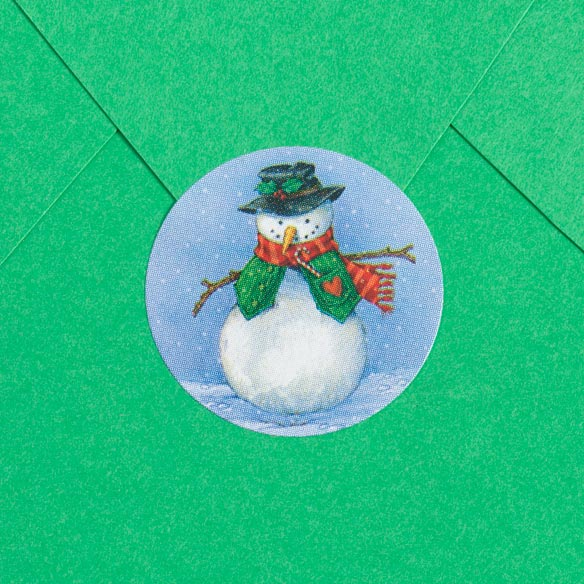 Country Snowman Enveloped Seals - Set of 250