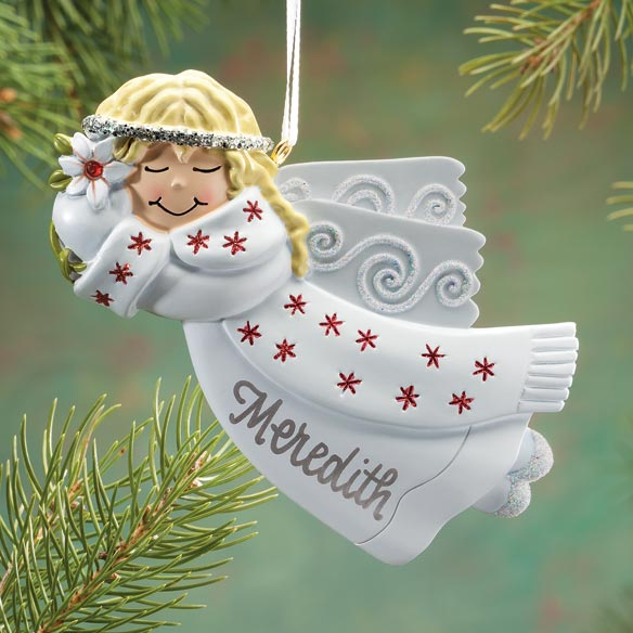 Personalized Birthstone Angel Ornament - View 1