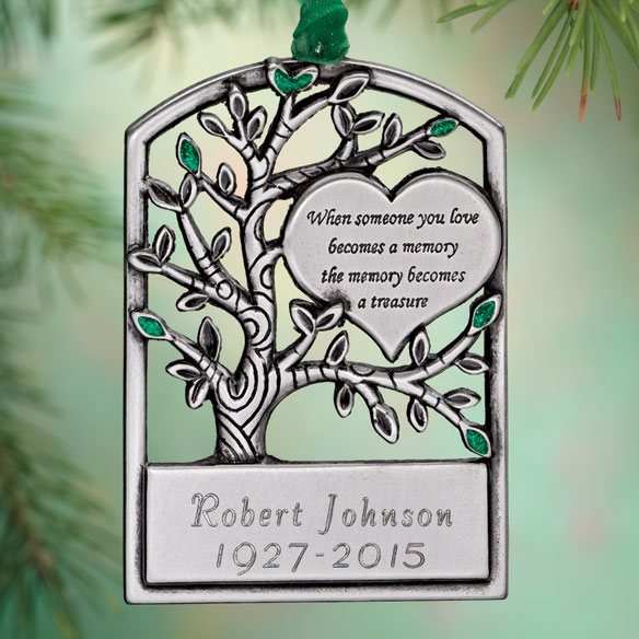 Personalized Pewter Memorial Tree Ornament