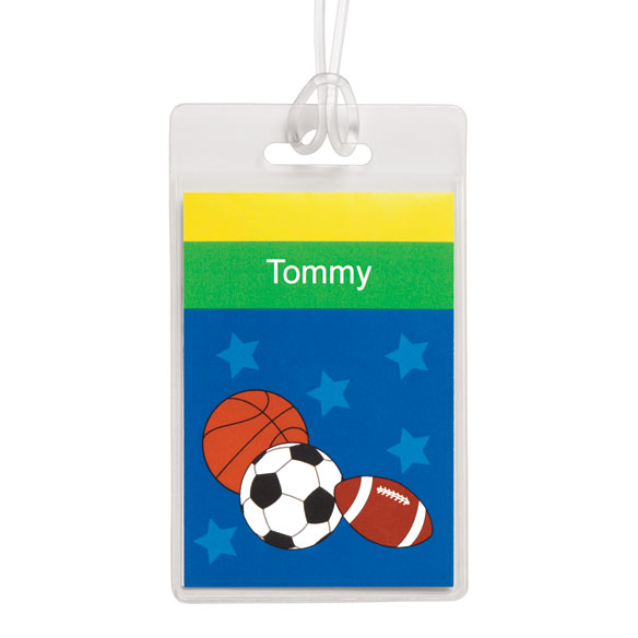 Personalized Sports Luggage Tag