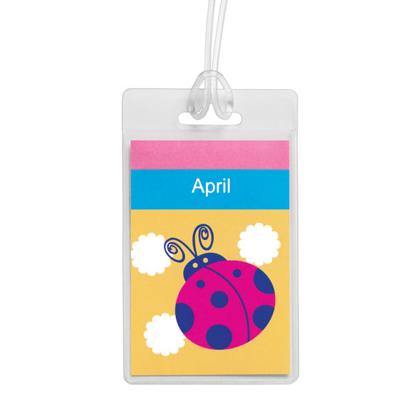 Personalized Ladybug Luggage Tag