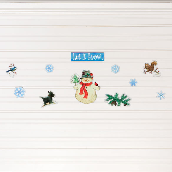 Let it Snow Garage Door Magnets - Set Of 11