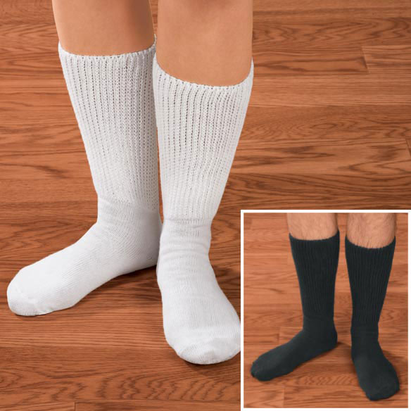 Diabetic Crew Socks - View 1
