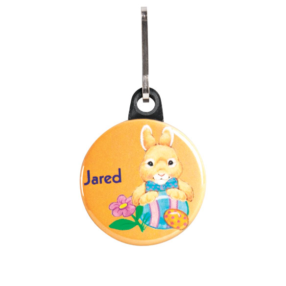 Personalized Easter Bunny Zipper Pull