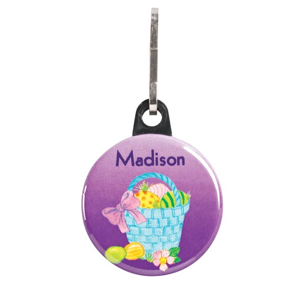 Personalized Easter Basket Zipper Pull
