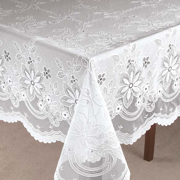 Vinyl Lace Tablecloth - View 1