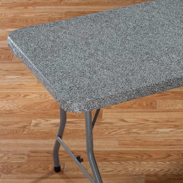 Granite Elasticized Banquet Table Cover - View 1