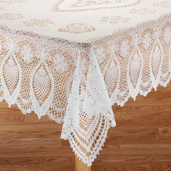 Vinyl Lace Tablecloth Vinyl Tablecloth Miles Kimball