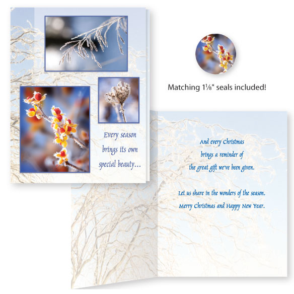 Season's Beauty Unpersonalized Card Set of 20 - View 1