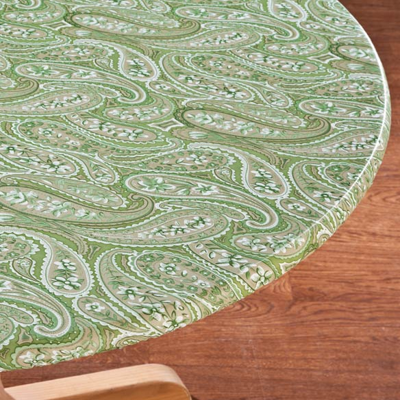 Paisley Elasticized Table Cover - View 1