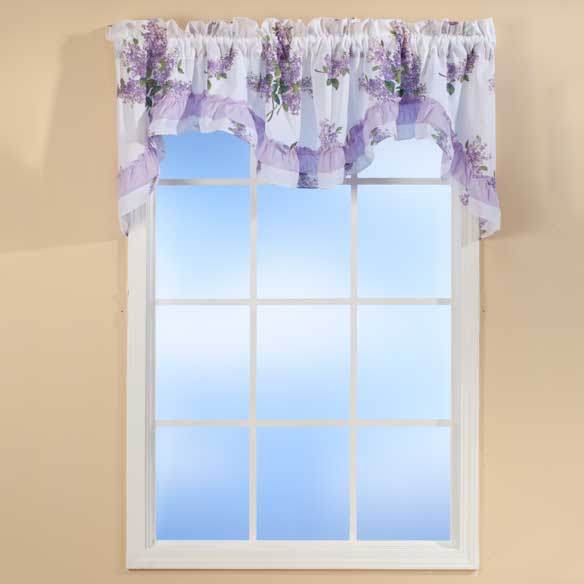 Lilac Ruffle Valance - View 1